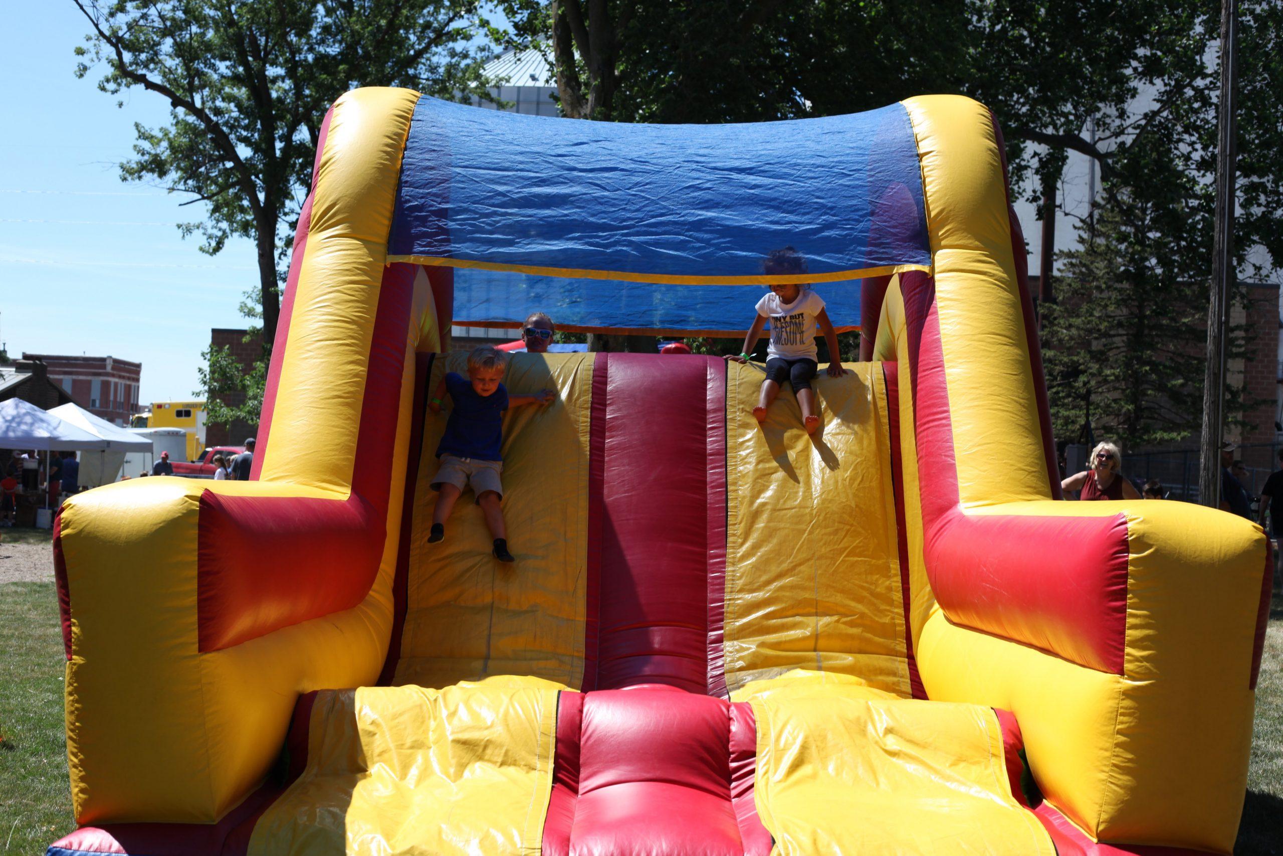 Inflatable slide at Laurens Summer Celebration 2016