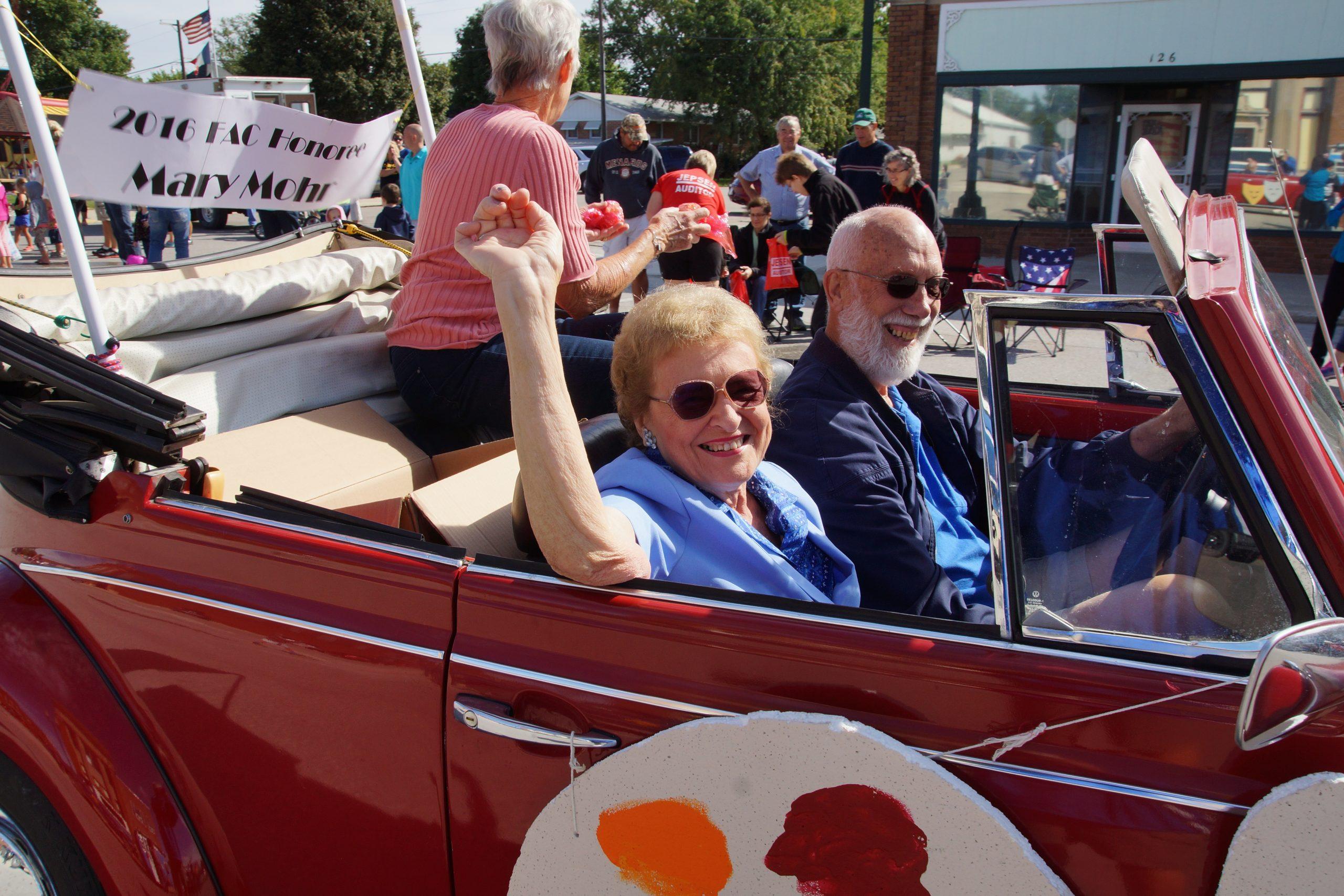 Grand Marshal Mary Mohr in Fonda Labor Day Parade 2016