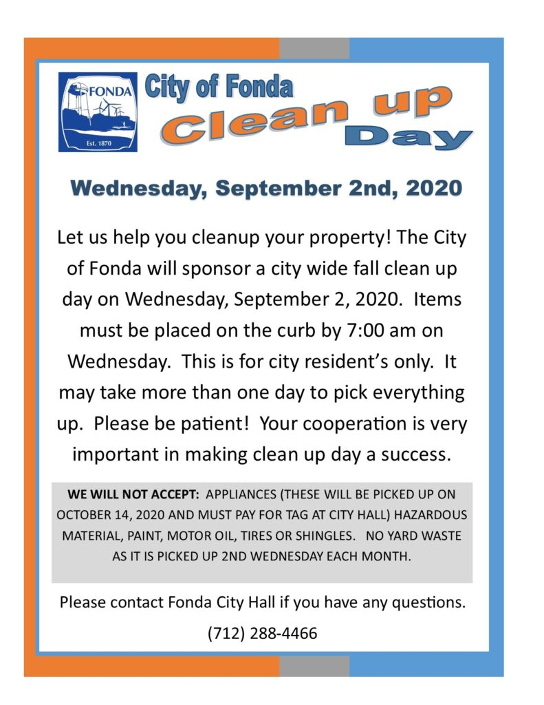 FALL Clean up Day 2020