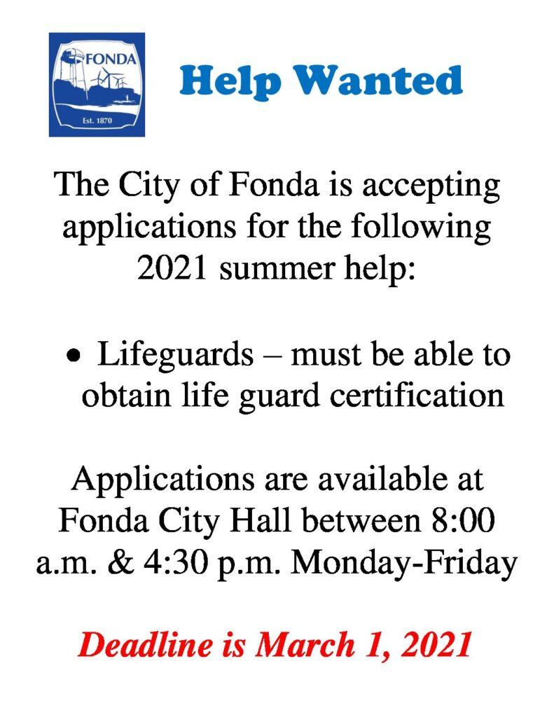 Pool Help Wanted 2021