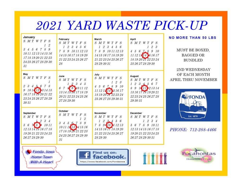 2021 Yard Waste Pickup