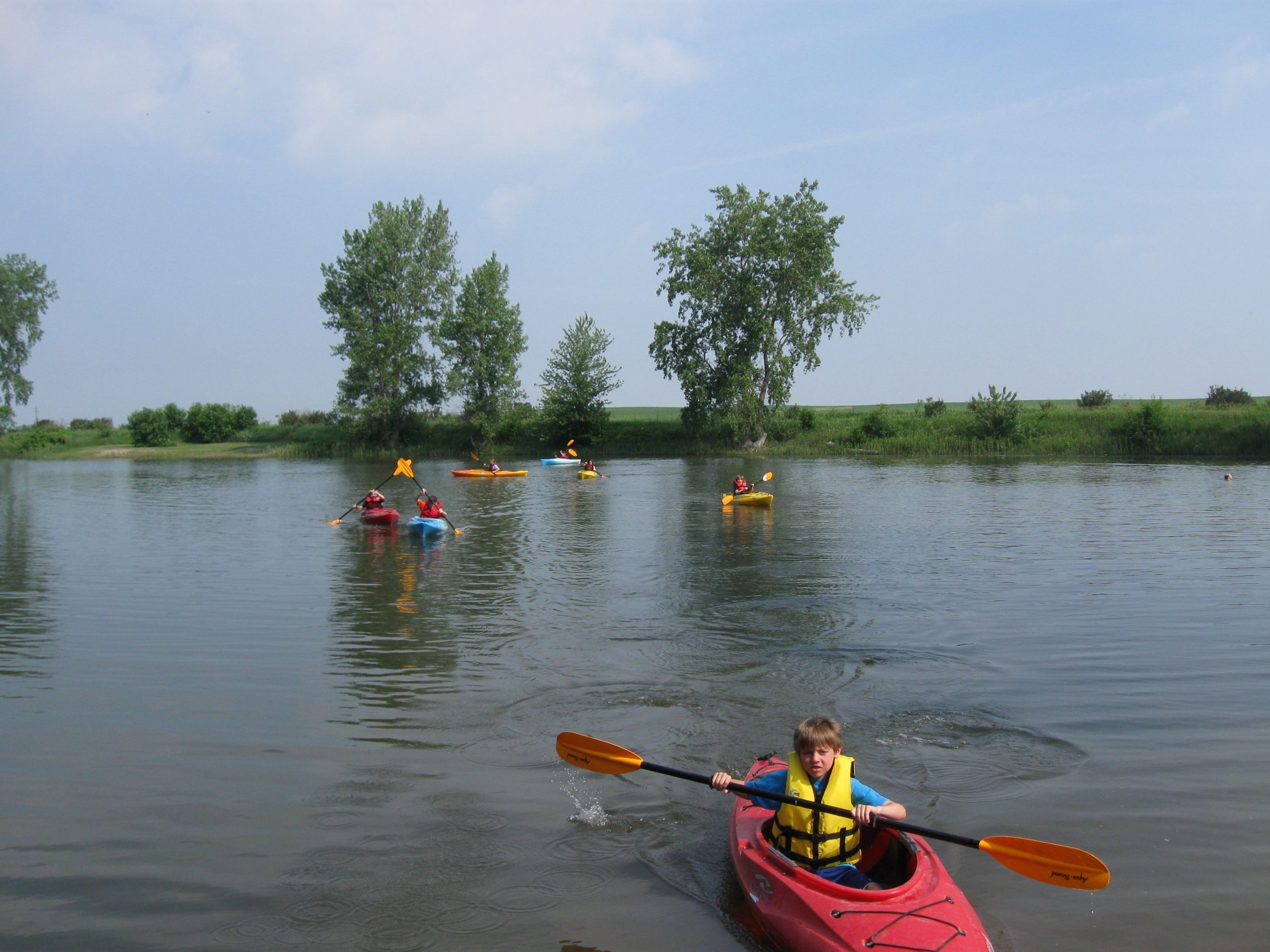 Kayaking at Meredith Park aka Plover Pit 2014